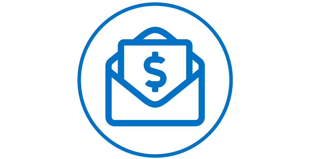 Envelope with money Icon.