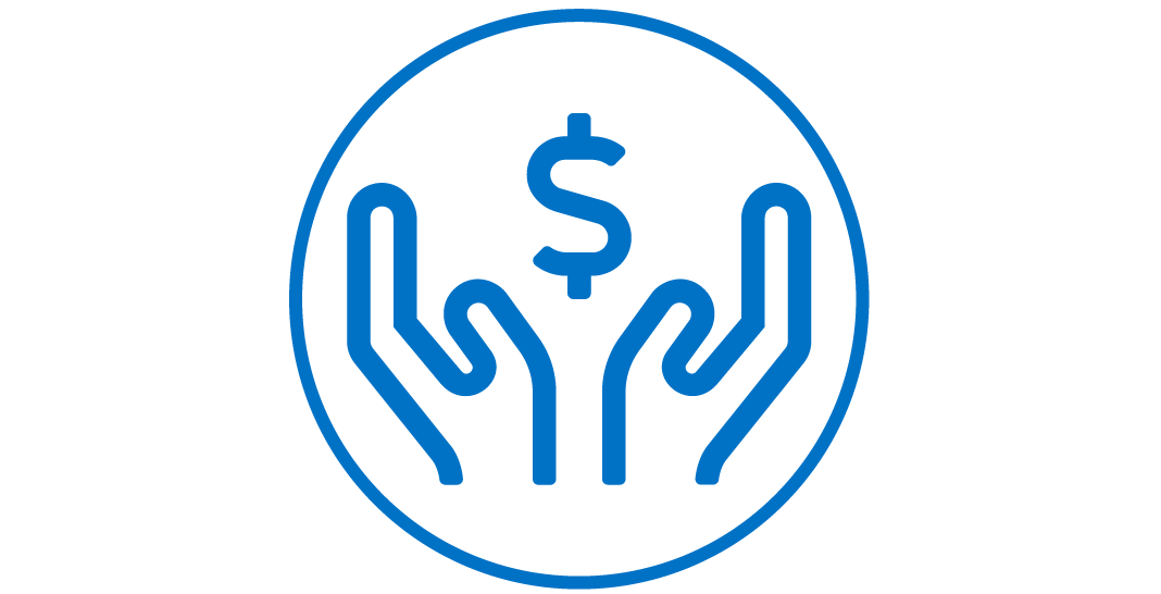 Hands and Money Icon