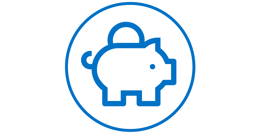 Piggy bank icon.