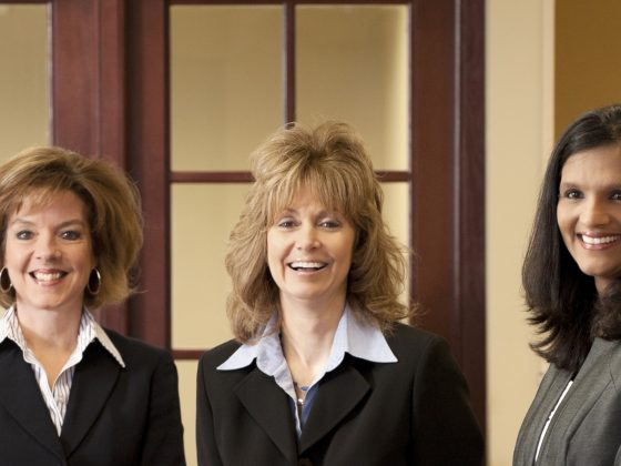 Group of female bankers.