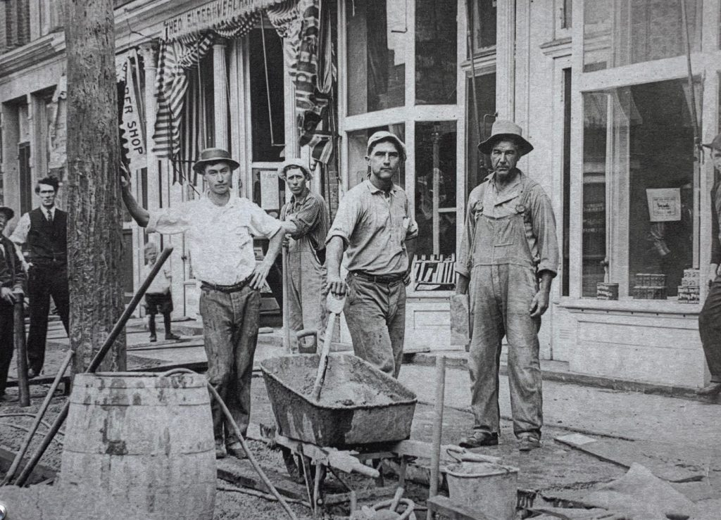Outside of the Loan Office in the 1800s